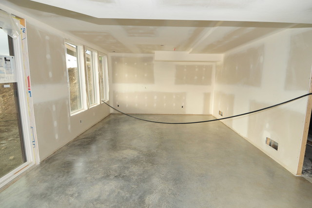 Basement concrete floors naturally look amazing achieved for Floor wax for concrete floors