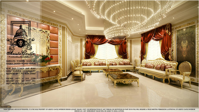 Luxury villas in dubai traditional other metro by for Villa interior design in dubai