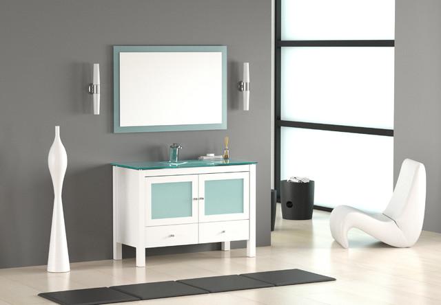 48 quot white modern bathroom vanity modern miami by bathroom place