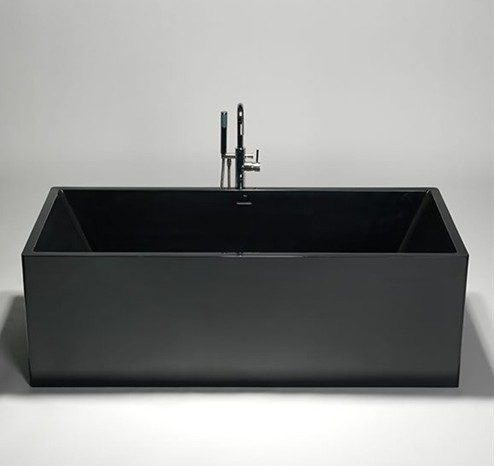 blu bathworks box blu stone freestanding rectangular tub