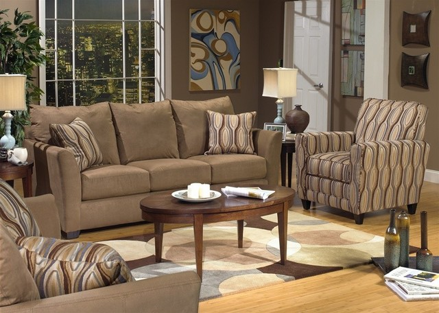 3 Piece Living Room Sofa Set: Keaton 3 Piece Living Room Set In