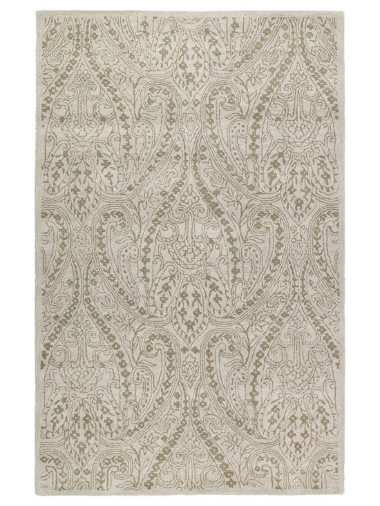 """Kaleen - Kaleen Khazana Collection 6586-01 2'3""""X7'6"""" Ivory - Craftsmanship and outstanding value is the definition of Khazana.  These fine rugs are hand tufted using only the finest 100% virgin wool and are available in a selection of classical or contemporary designs. The collection offers an array of fashionable colors to meet all your decorating needs. Hand crafted in India."""
