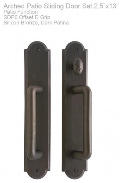 Rocky Mountain Hardware Arched Patio Sliding Door Set 2 1/2″ x 13″ brackets