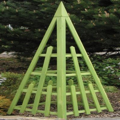Arboria Irish Moss Pyramid Trellis traditional-fencing