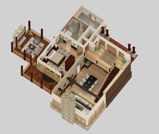3d floor plans charleston by leigh design llc for 2 story house plans 3d
