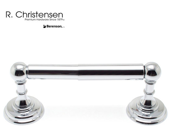 2112US26 Polished Chrome 2-Post Tissue Holder by R. Christensen - 8-1/2 by 2-3/16 inch traditional style 2-post tissue holder by R. Christensen in Polished Chrome.
