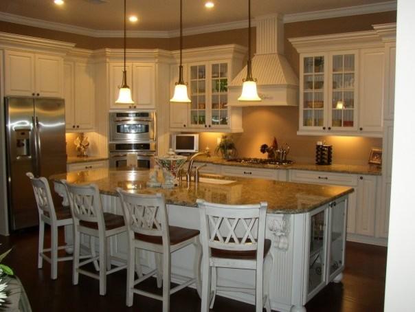 traditional kitchen paint w glaze finish wainscot panels