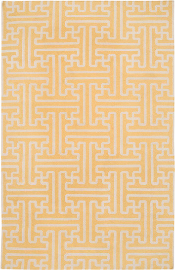 Jenny Links Wool Rug Marigold Yellow contemporary-rugs