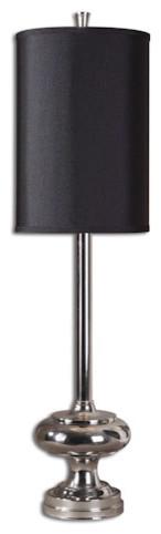 Jelani Chrome Buffet Lamp traditional-lamp-shades
