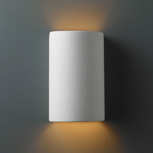 Small Wall Sconces For Bathroom : Ambiance Bisque Small Cylinder Bathroom Wall Sconce - Modern - Bathroom Vanity Lighting