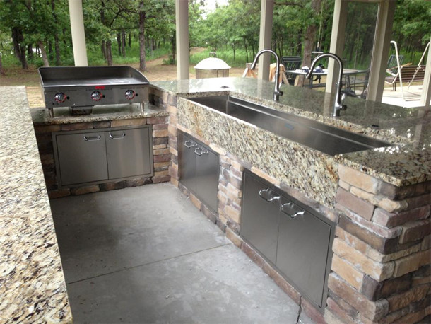 Outdoor Galley Kitchens traditional-kitchen