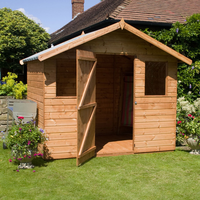 and groove apex garden shed with front windows contemporary sheds