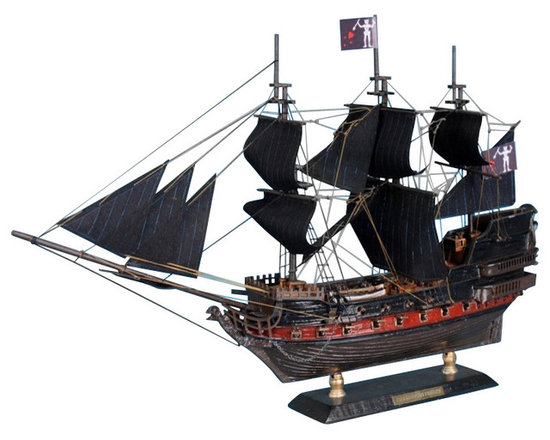 """Handcrafted Model Ships - Caribbean Pirate Ship Limited 15"""" - Wooden Pirate Ship Model - Sold fully assembled"""