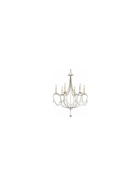 Currey and Company Crystal Lights Transitional Chandelier - Small - CNC-9890 - Currey and Company Crystal Lights Transitional Chandelier - Small - CNC-9890