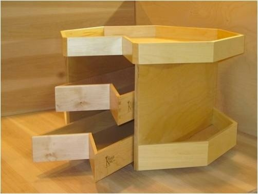 how to change lazy susan to drawers