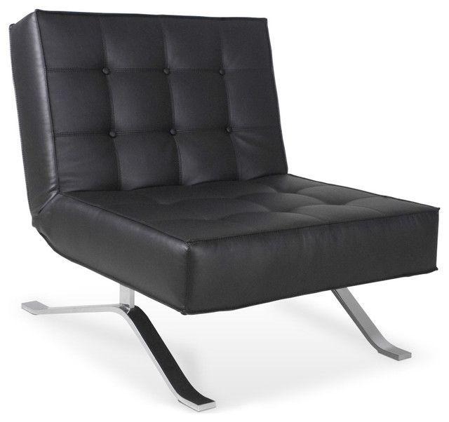 Wave one black lounge chair modern armchairs and for Stylish lounge chairs