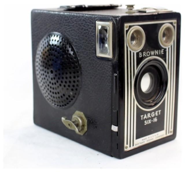 Steampunk Portable Wireless Bluetooth Speaker, Target Six-16 - Midcentury - Home Electronics ...