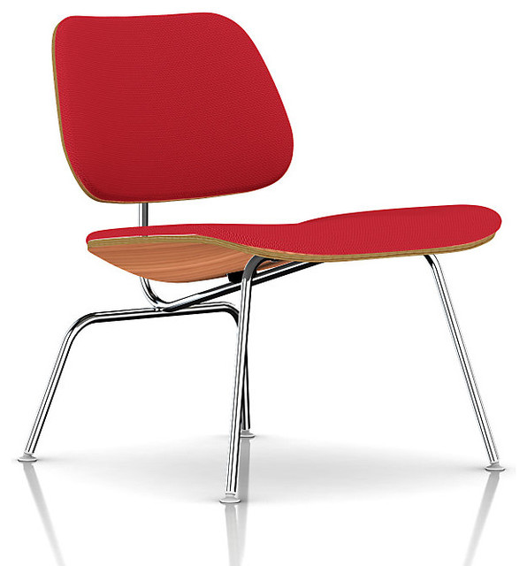 Herman Miller Eames Molded Plywood Lounge Chair Upholstered Midcentury