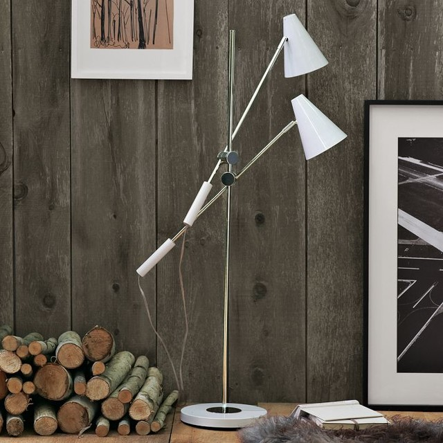 Taper Shade Floor Lamp modern floor lamps