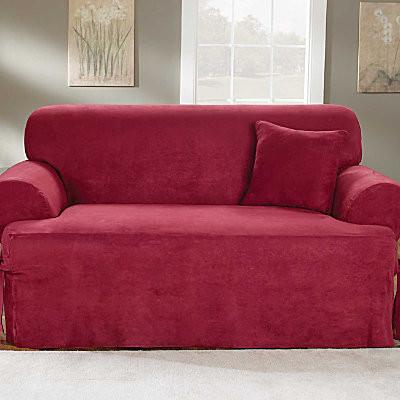 Microsuede T Cushion Sofa Cover contemporary-sofas