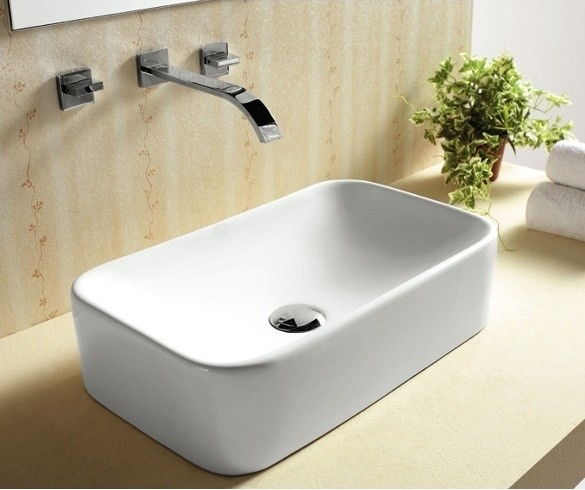 Above The Counter Bathroom Sinks : Above Counter Vessel Sink by Caracalla - Contemporary - Bathroom Sinks ...