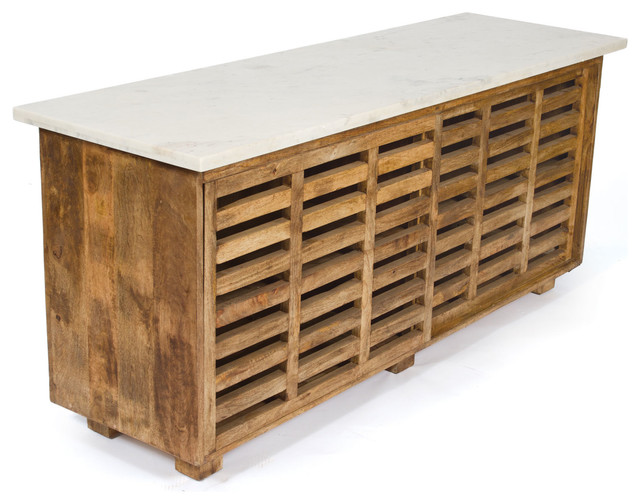 Wood & Marble Sideboard - Eclectic - Buffets And Sideboards - by Dot & Bo