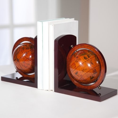 Old World Globe Bookends eclectic desk accessories