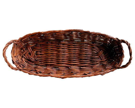 French Table Basket - Large French vintage wicker basket, perfect for harvest table display. In gorgeous condition, beautifully hand made in France.