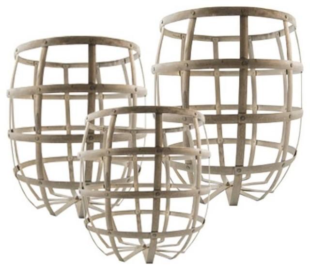 Large Gigognes Zinc Baskets baskets