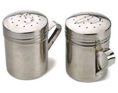 Stainless Steel Salt and Pepper Shakers industrial-salt-and-pepper-shakers-and-mills