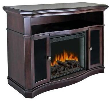 Pleasant Hearth Wheaton 54 In Media Console Electric Fireplace In Merlot 238 79 Contemporary