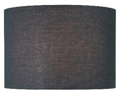 Black Drum Lamp Shade from Lite Source modern-lamp-shades