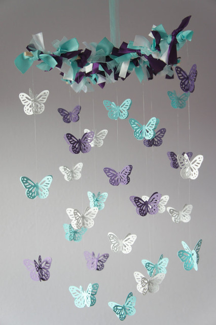 Butterfly Mobile by Lovebug Lullabies modern-baby-mobiles