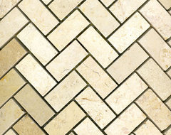 Jerusalem Bone Herringbone traditional bathroom tile