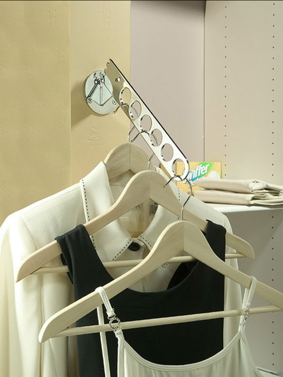 Valet Rods- the accessory your closet must have - Chrome drop down valet rod is height adjustable and prefect for closets or laundry rooms.