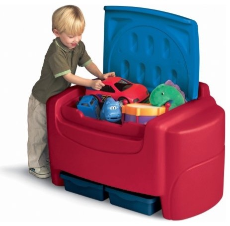Little Tikes Sort n Store Toy Chest - Primary Colors contemporary-toy-organizers