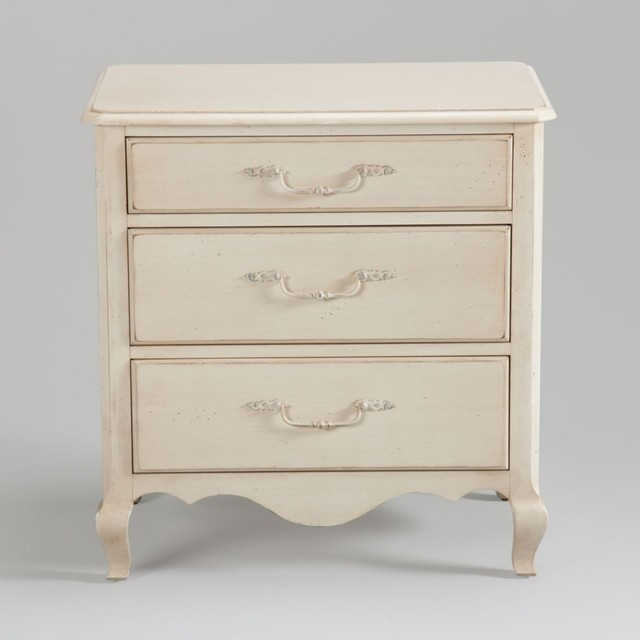 Three drawer night stand traditional nightstands and bedside tables