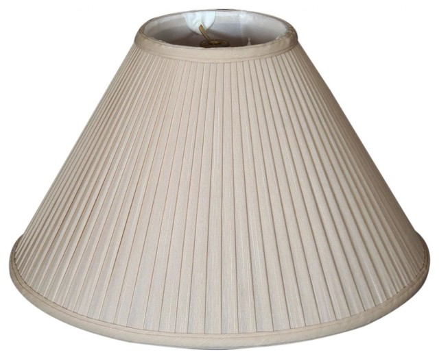 Side Wall Lamp Shades : Coolie Empire Side Pleat Basic Lampshade - Traditional - Lamp Shades - by royalLAMPSHADES
