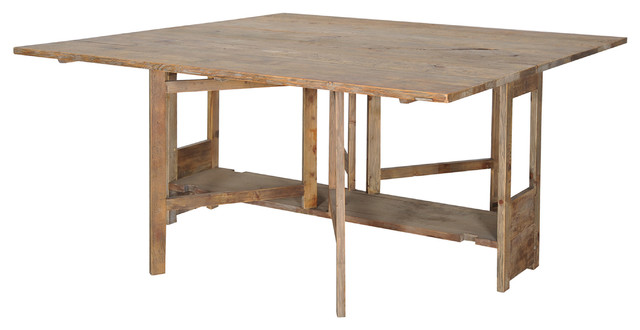 Gateleg Square Dining Table eclectic-dining-tables