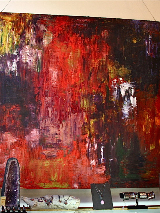 Very Large Abstract Painting by Brian Gibson -