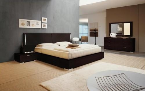 Doimo Elite Enter Platform Bed in Wenge modern-beds