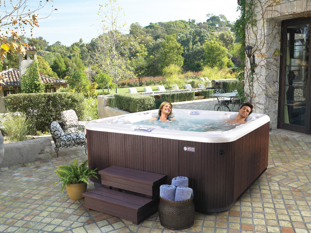 Hot spring aria hot tubs modern hot tubs denver by iht internationa - Jacuzzi en bois exterieur ...