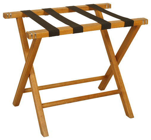 Oak Luggage Rack Contemporary Bedroom Products By Welcome Home