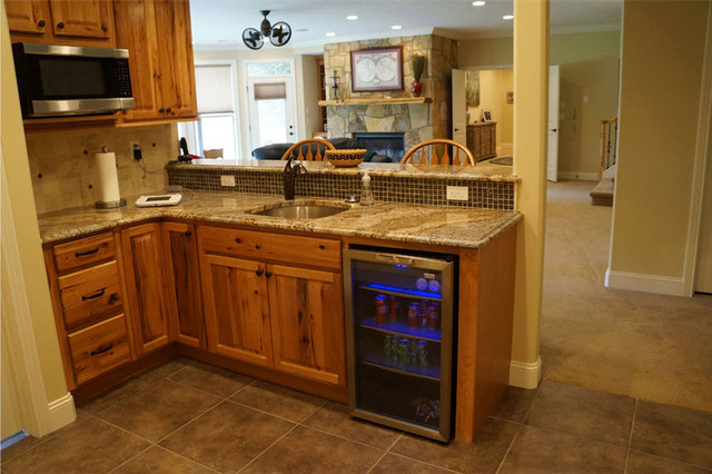 Angela Raines Designs Rustic Basement Other Metro By Kitchen Sales Gallery