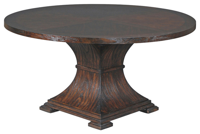 Manhattan Round Dining Table 60 Transitional dining tables