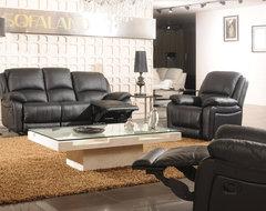 Patrizia Italian Leather Reclining Sofa Set modern-living-room-furniture-sets