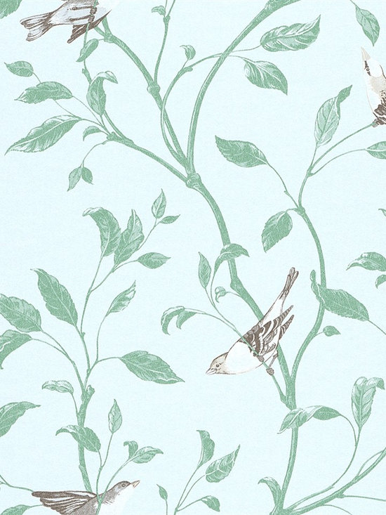 Tendresse - You can practically hear the birds chirping in this adorable wallpaper from the book Tendresse.