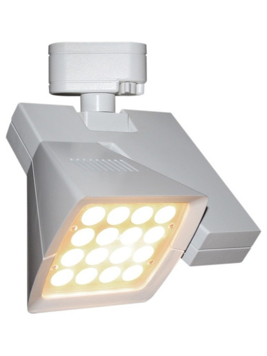 "WAC - WAC Logos 36 Degree White 38W LED Track Head for Juno - Logos track head for use with Juno track systems. White finish. 36degree beam spread. Includes 38 watt LED. Light output is 3080 lumens. 2700K color temperature. CRI is 85. Average bulb life is 100000 hours when used 3 hours a day. Dimmable down to 10 percent with ELV dimmer. ENERGY STAR® rated. Low voltage. 9 1/4"" high. 8 1/4"" wide.  Logos track head for use with Juno track systems.  White finish.  36degree beam spread.  Includes 38 watt LED.  Light output is 3080 lumens.  2700K color temperature.  CRI is 85.  Average bulb life is 100000 hours when used 3 hours a day.  Dimmable down to 10 percent with ELV dimmer.  ENERGY STAR® rated.  Low voltage.  9 1/4"" high.  8 1/4"" wide."