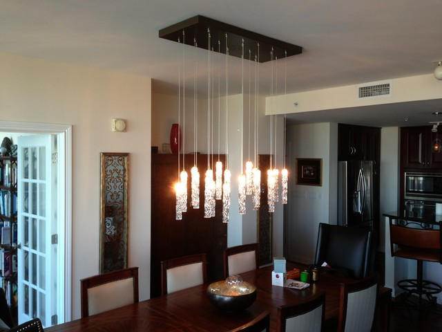Twist chandelier contemporary dining room new york for Dining room chandeliers