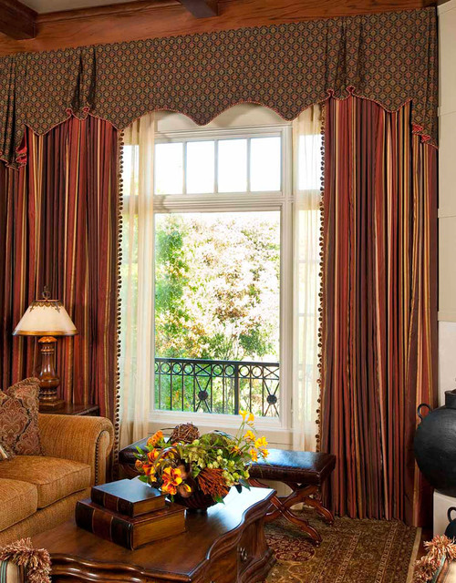 Draperies window treatments traditional living room - Houzz window treatments living room ...